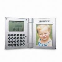 Best Recording Photo Frame Clock with Eight-digit Calculator and LCD Display wholesale