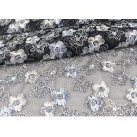 Best Floral Design Embroidered Tulle Lace Fabric For Bridal Wedding Dresses wholesale