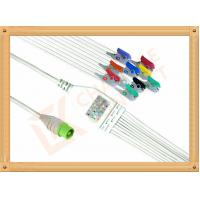 Best Green NEC One Piece Ecg Accessories Cable10 Lead Clip AHA Durable PU Material Cable wholesale