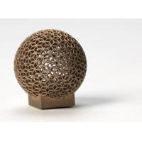 Quality Aluminum DMLS 3D printing for Sphere Shape , Golden electroplating wholesale