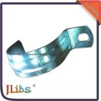 China Zinc Galvanized Metal Pipe Clips / Carbon Steel Metal Tube Clamps G Clamp Structure on sale