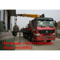 Heavy duty SINO TRUK 8*4 HOWO 16tons Truck with Crane,factory sale best price Truck with XCMG Crane Truck with crane