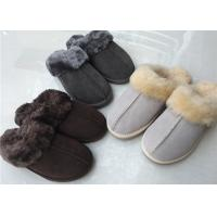 Best Double Faced Genuine Sheep Wool Slippers Handmade 35-43 European Sizes wholesale