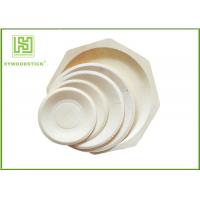 Best Round White Disposable Wooden Plates bulk For Fruit 5'' 6'' 7'' 8'' Size wholesale