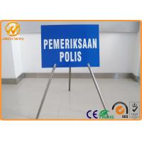 "Best Portable Foldable Traffic Warning Signs with Tripod Stand Galvanized Tube Diameter 1"" wholesale"