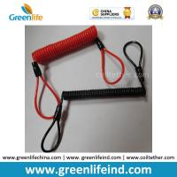 Best Red/Black Custom Size Plastic PU Covered Wire Core Anti-theft Warning Coiled Cables wholesale