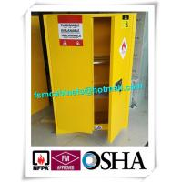 Best Yellow Flammable Safety Cainets , Industry Flame Proof Storage Cabinets wholesale