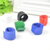 Best Blue / Black / Green Cord Management Straps Adhesive Cable Clamps For Wire wholesale
