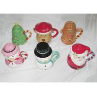 Best Easy Clean Dolomite Hand Painted Christmas Themed Mugs Food Grade With Covered wholesale