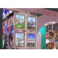 Cheap Real Estate Window Crystal LED Light Box Display Single Sided With Steel Cable System for sale