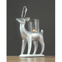 China Standing Reindeer Tealight Candle Holders / Glass Cup Candle Wax Sculpture on sale