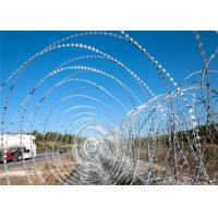 Best Galvanized Gaucho Security Barbed Wire On Top Of Fence , Thin Razor Wire wholesale