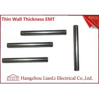 Best White Galvanized Electrical Conduit / 1 inch EMT Conduit ERW Welded , Unthread Type wholesale