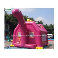 Cheap Pink Dino Inflatable Bouncy Castles Commercial Grade Bounce Houses wholesale