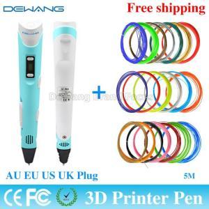 Best Professional  Blue 3D Air Pen , 3D Drawing Pen  DC 12v 2A 24W wholesale
