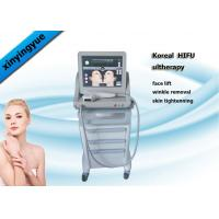 Best Permanent HIFU Machine 4.5mm Action Depth 3 Heads  , Facial Wrinkle Remover wholesale
