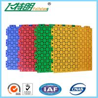 Best Plastic Playground Rubber Flooring All Weather Multifunction 97% Rebound Rate wholesale