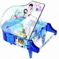 Quality Crystal Music Box for Valentine's Day Gifts, Customized Logos and Pictures are Accepted wholesale