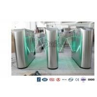 Best Underground Entrance Flap Barrier Gate Optical Turnstile ESD System DC 24V Brush wholesale
