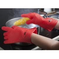 Best Red Silicone Oven Gloves Cooking And Baking Easier With Heat Resistance Oven Mitts wholesale