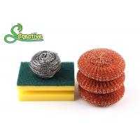 Best Silver Metal Scouring Ball / Stainless Steel Cleaning Pads For Pot Washing wholesale
