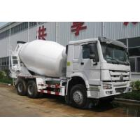 Best White 13 CBM Cement Mixer Truck Concrete Mixing Equipment , 6x4 Driving Casting Steel Made Tank wholesale
