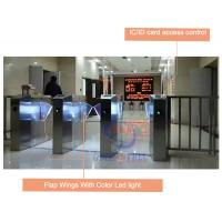 Best IC / ID Card Access Control Automatic Flap Barrier Gate With Security Infrared Sensor wholesale
