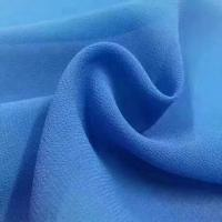 China 2018 the most popular wholesale high quality pearl chiffon fabric Mulinsen Woven Wholesale polyester dyed fabric on sale