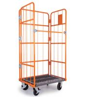 China Iron Wire Roll Container Detachable Collapsible , Roll Cage Pallet on sale