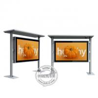 China 85 Inch Bus Station IP65 Outdoor Digital Signage 2000cd High Brightness LCD Kiosk on sale