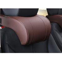 China Soft And Comfortable Car Headrest Pillow PVC Leather Material For Car Accessories on sale