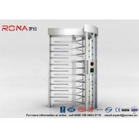 Cheap High Security Full High Turnstile Access Control With Biometric Reader With CE Approved for sale