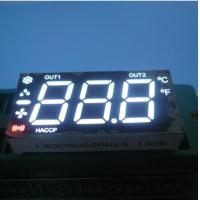 China Multiplexed Triple Digit Seven Segment LED Display Ultra White For Heating / Cooling Control on sale
