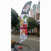 Best Decorative Custom Advertising Flags And Banners With Poles + Cross Base + Carry Bag wholesale