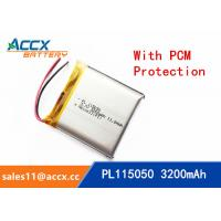 Best 115050 105050 3200mAh 3.7v lithium polymer battery OEM rechargeable lipo battery wholesale