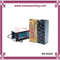Best high quality exquisite custom printing wine paper packaging bag with clear window wholesale