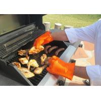 Best Food Grade Durable Orange Silicone Oven BBQ Gloves Heat Insulation Of Weight 145g wholesale