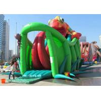 Best Chameleon Design Inflatable Adventure Park , Inflatable Bounce House With Slide wholesale