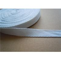 Best 20mm White Non Elastic Tape Trim , Sewing Double Fold Bias Tape wholesale