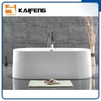 Best Large Oval Acrylic Freestanding Soaking Bathtubs White Color With Overflow wholesale