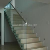 Best Indoor Standoff Glass Railing Stainless Steel Staircase Railing Price India wholesale