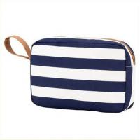 Buy cheap Printed Blue White Striped Canvas Women Storage Makeup Bags Cases from wholesalers