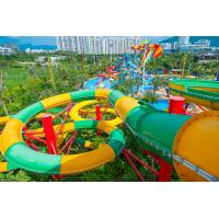 Buy cheap Fiberglass Closed Spiral Black Hole Water Amusement Park Slides For Adult from wholesalers