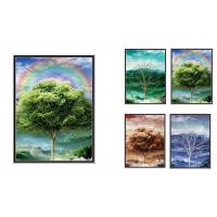 Best 30x40cm Beautiful Four Season Trees Lenticular Flip With 0.6mm PET For Home Decoration wholesale
