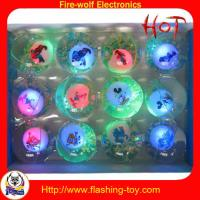 China OEM, ODM 3 Led Flashing Toy color kid Bounce Water / Jump Ball (TPU rubber) on sale