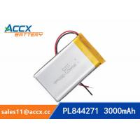 Best 844271 pl844271 3.7V 3000mAh li-ion battery rechargeable polymer batteries wholesale