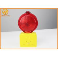 China Red / Yellow LED Blinking Dry Battery Traffic Warning Lights For Police Equiprment on sale