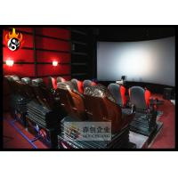 Cheap Professional 5D Movie Theater Equipment with 5D Projector System , Hydraulic Platform for sale
