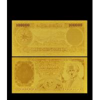 Best Italy Gold Plated Banknotes Italy 100000 Lire Gold Banknote Gift For Business wholesale