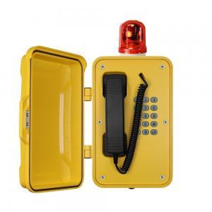 Best Heavy Duty Industrial Outdoor Weatherproof TelephonesWith Warning Light wholesale